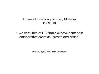 Financial University lecture, Moscow 26.10.10