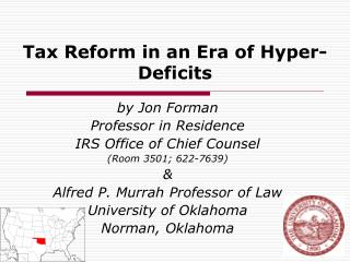 Tax Reform in an Era of Hyper-Deficits