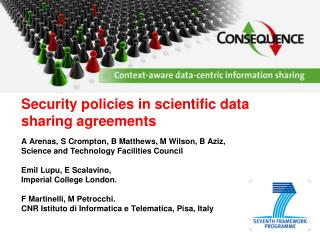 Security policies in scientific data sharing agreements