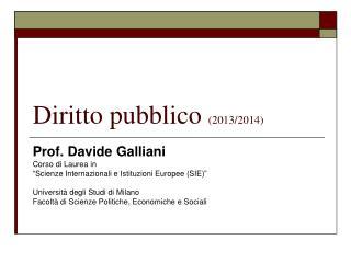 Diritto pubblico  (2013/2014)