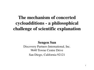 The mechanism of concerted cycloadditions - a philosophical challenge of scientific explanation