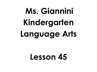 Ms. Giannini