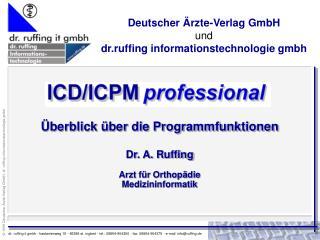 Deutscher Ärzte-Verlag GmbH und dr.ruffing informationstechnologie gmbh