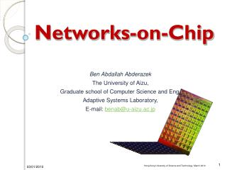 Network-on-Chip Architectures and Building Blocks