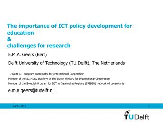 The importance of ICT policy development for education    challenges for research