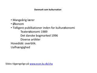 Danmark som kulturnation
