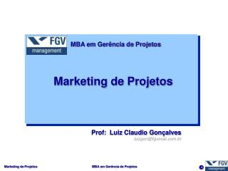 Marketing de Projetos