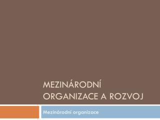 Mezin�rodn� organizace a rozvoj