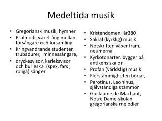 Medeltida musik