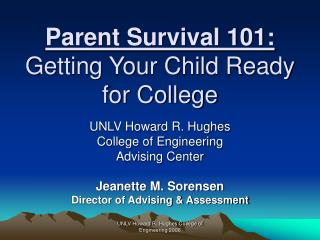 Parent Survival 101:  Getting Your Child Ready for College