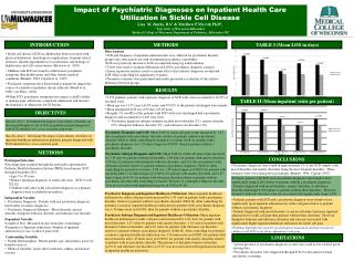 Impact of Psychiatric Diagnoses on Inpatient Health Care Utilization in Sickle Cell Disease