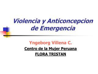 Violencia y Anticoncepcion  de Emergencia