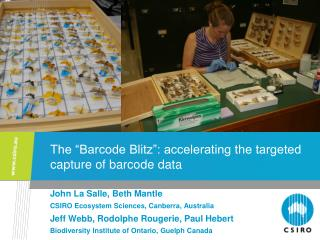 The �Barcode Blitz�: accelerating the targeted capture of barcode data