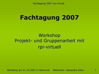 Fachtagung 2007
