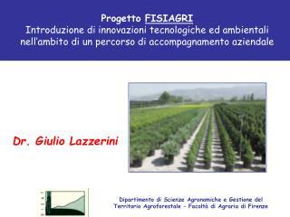 Dr. Giulio Lazzerini