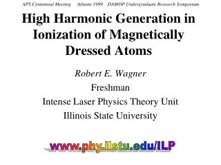 High Harmonic Generation in Ionization of Magnetically Dressed Atoms