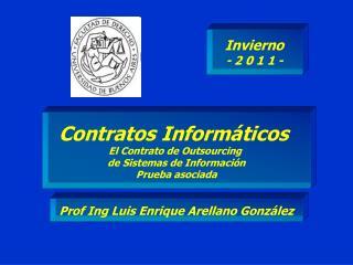 Contratos Informáticos  El Contrato de Outsourcing  de Sistemas de Información Prueba asociada