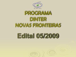 PROGRAMA  DINTER  NOVAS FRONTEIRAS
