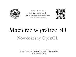 Macierze w grafice 3D