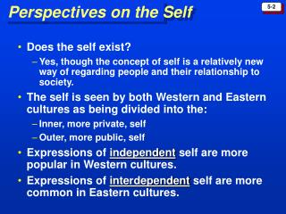 Perspectives on the Self