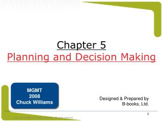 Chapter 5 Planning and Decision Making