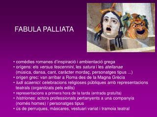 FABULA PALLIATA