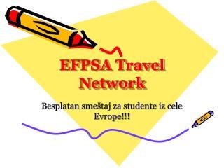 EFPSA Travel Network