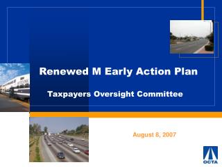 Renewed M Early Action Plan