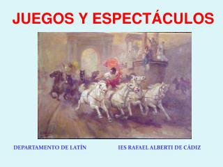 DEPARTAMENTO DE LAT�N                        IES RAFAEL ALBERTI DE C�DIZ