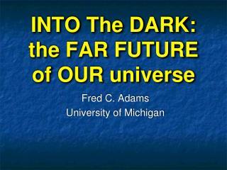 INTO The DARK: the FAR FUTURE of OUR universe