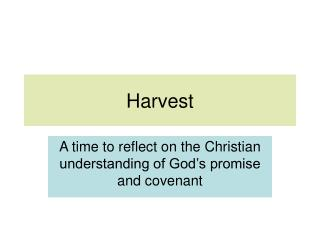 Upper KS2 Harvest Lesson 1