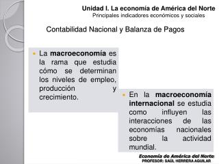 Contabilidad Nacional y Balanza de Pagos