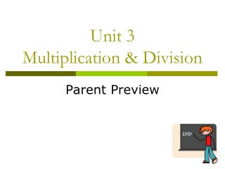Unit 3 Multiplication & Division
