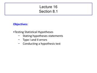 Lecture 16 Section 8.1