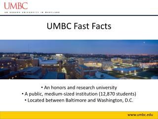 UMBC Fast Facts