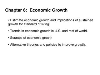 Chapter 6:  Economic Growth