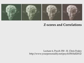 Z-scores and Correlations