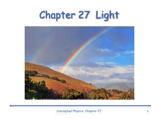 Chapter 27  Light