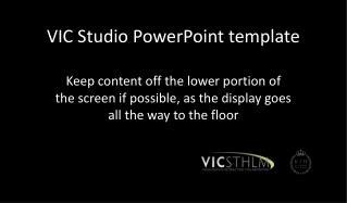 VIC Studio PowerPoint template