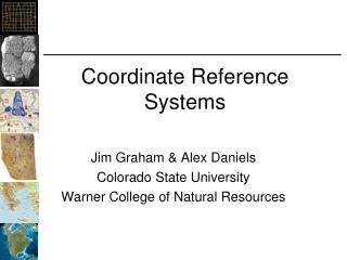 Coordinate Reference Systems