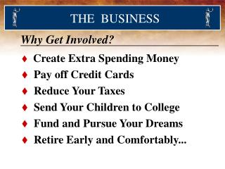Create Extra Spending Money   Pay off Credit Cards   Reduce Your Taxes