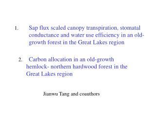 Jianwu Tang and coauthors
