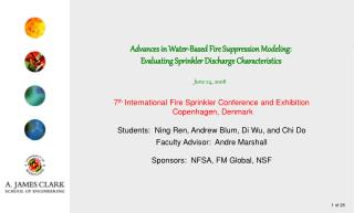 Advances in Water-Based Fire Suppression Modeling: Evaluating Sprinkler Discharge Characteristics