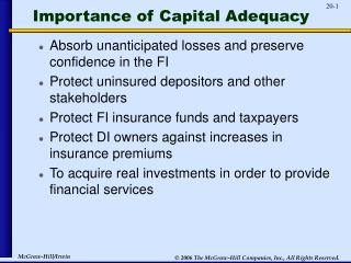 Importance of Capital Adequacy