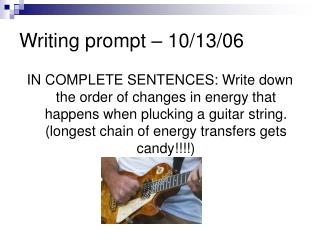 Writing prompt – 10/13/06