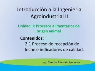 Introducci n a la Ingenieria Agroindustrial II
