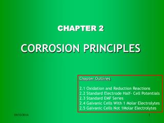 CHAPTER 2 CORROSION PRINCIPLES