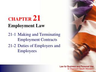 CHAPTER  21 Employment Law
