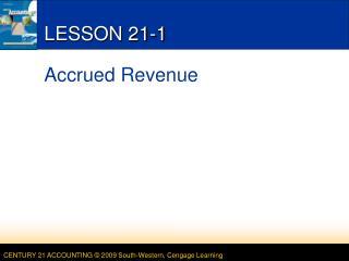 LESSON 21-1