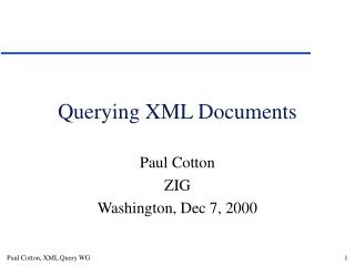 Querying XML Documents